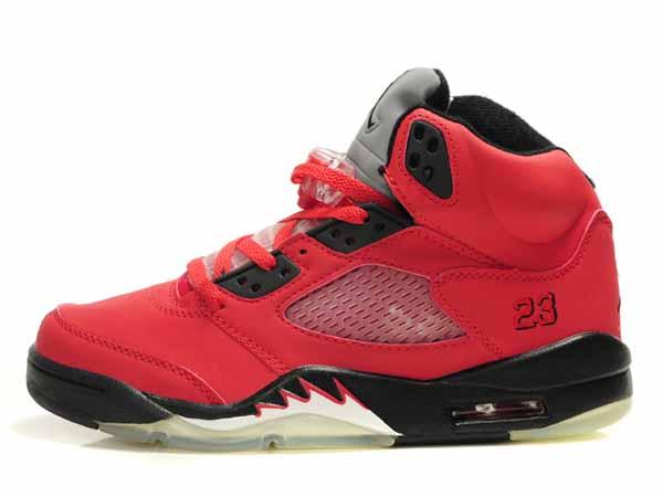 tout neuf 1ca46 d0112 nike bleu et orange,Nike Air Jordan 5 V Enfant Rouge Noir ...