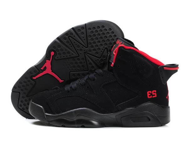 huge selection of 794b7 d4d1c chaussures bébé pas cher marques,Nike Air Jordan 6 Enfant Noir Rouge